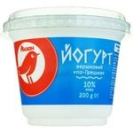 Йогурт Ашан сливочный по-гречески 10% 200г