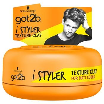 Глина для волос iStylers got2B текстурирующая 75мл - купить, цены на Ашан - фото 1