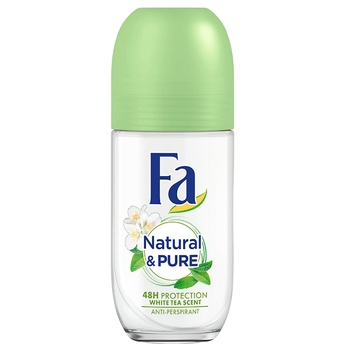Fa Deodorant Roll-on Natural & Pure 24-H Protection 50ml