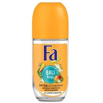 Дезодорант-ролик Fa Ритмы островов Bali Kiss без солей алюминия Аромат манго и цветка ванили 50мл