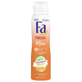 Дезодорант-спрей Fa Fresh&Free з Магній-комплексом Аромат Огірок-Диня 150мл - купити, ціни на ЕКО Маркет - фото 1
