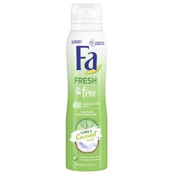 Дезодорант-спрей Fa Fresh&Free з Магній-комплексом Аромат Лайм-Кокос 150мл - купити, ціни на ЕКО Маркет - фото 1