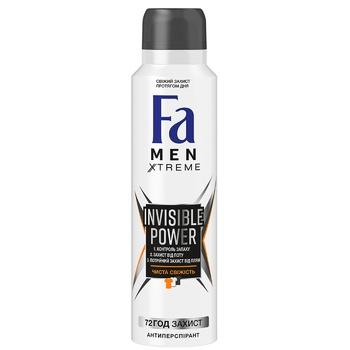 Дезодорант-спрей Fa men Xtreme Invisible 150мл