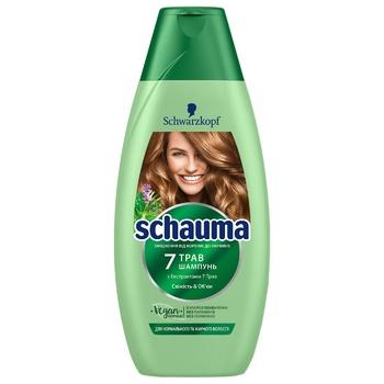 Шампунь Schauma 7 трав для нормального і жирного волосся 400мл - купити, ціни на Novus - фото 1