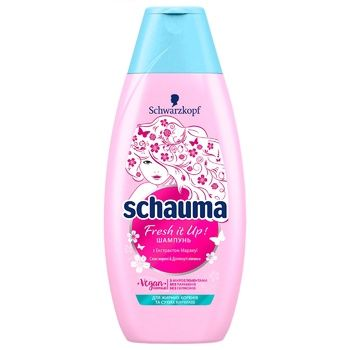 Schauma Fresh it Up! For Quickly Oiling Hair Shampoo 400ml - buy, prices for Auchan - image 1