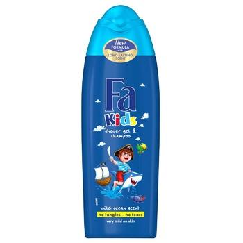 Fa Shower Gel & Shampoo Kids 250ml - buy, prices for Auchan - photo 1