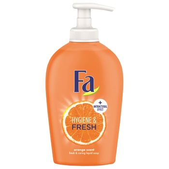 Fa Liquid Soap Hygiene & Fresh Orange with Antibacterial Effect 250ml - buy, prices for Novus - image 1