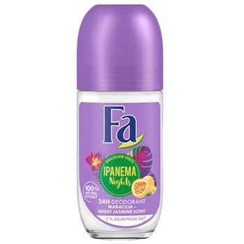 Дезодорант-ролик Fa Ритмы Бразилии Ipanema Nights 0% солей алюминия Аромат ночного жасмина 50мл