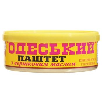 Паштет печінковий Онісс Одеський з вершковим маслом 240г - купити, ціни на Novus - фото 1
