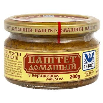 Паштет Онісс Домашній з вершковим маслом 200г - купити, ціни на Novus - фото 1
