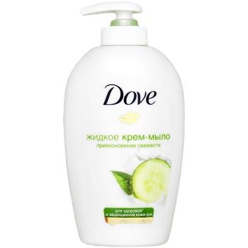 Крем-мыло Dove Прикосновение свежести жидкое 250мл - купить, цены на Восторг - фото 1