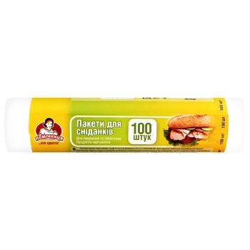 Пакеты для завтрака Помощница 100шт - купить, цены на Novus - фото 1