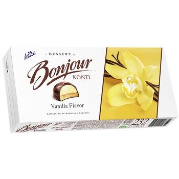 Десерт Контi Bonjour ваниль 232г - купить, цены на Фуршет - фото 1