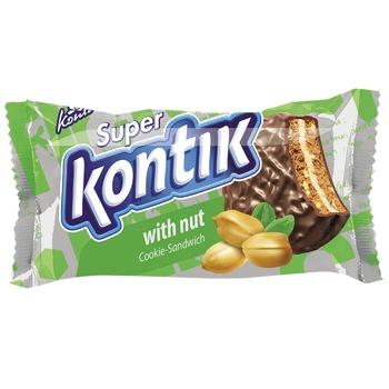 Superkontik Chocolate Glazed Nut Sandwich Cookie - buy, prices for Auchan - image 1