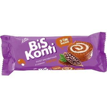 Рулет Konti BisKonti бисквитный со вкусом какао 175г