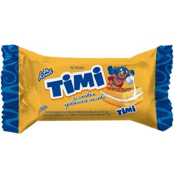 Пирожное Конти Timi со вкусом топленого молока 50г - купить, цены на Фуршет - фото 1