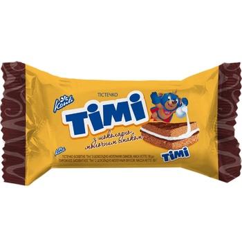 Пирожное Konti Тими бисквитное с шоколадно-молочным вкусом 50г