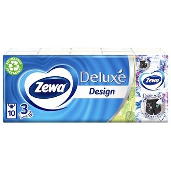 Платочки носовые Zewa Design 3 слоя 10шт