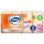 Туалетная бумага Zewa Deluxe Персик трехслойная 16шт - купить, цены на Novus - фото 1