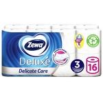 Туалетная бумага Zewa Deluxe белая 3-х слойная 16шт