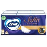 Платочки бумажные Zewa Softis Pocket четырехслойные 9шт