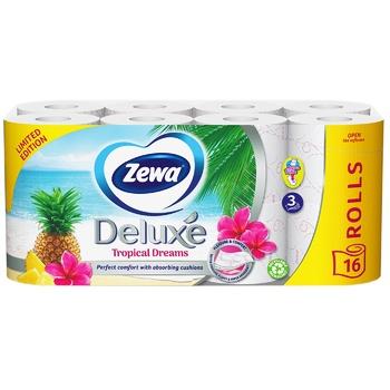 Папір туалетний Zewa Deluxe білий 3-х шаровий 16шт - купити, ціни на Novus - фото 1