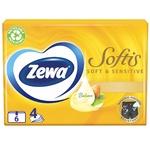 Хусточки носові Zewa Soft & Sensetive 6шт
