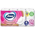 Туалетний папір Zewa чотиришаровий 16 рулонів