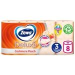 Туалетний папір Zewa Deluxe Персик трьохшаровий 8шт - купити, ціни на Novus - фото 1