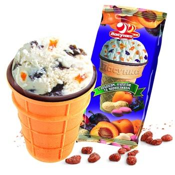Мороженое Ласунка Шахерезада вафельный стаканчик 70г