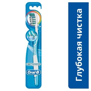 Зубна щітка Oral-B Комплекс Глибоке Чищення середня 2шт - купити, ціни на Ашан - фото 2