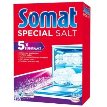 Сіль Сомат для посудомийної машини 1,5кг - купити, ціни на Novus - фото 1