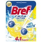 Toilet block Bref Power active 50 g Lemon