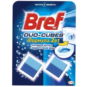 Кубики Бреф Дуо Актив для туалетного бачка 100г - купить, цены на Novus - фото 1