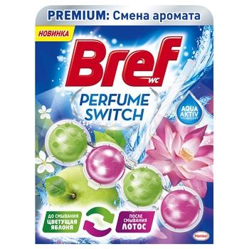 Блок для унитаза Бреф Смена аромата Яблоко -лотос 50г - купить, цены на МегаМаркет - фото 1