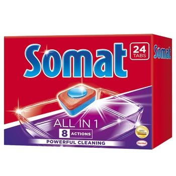 Tablets Somat All in 1 24 pcs for dishwasher - buy, prices for CityMarket - photo 1