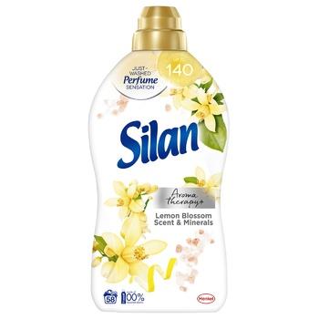 Кондиционер для белья Силан Аромат Лимонного цветения и минералы 1,45л - купить, цены на Ашан - фото 1
