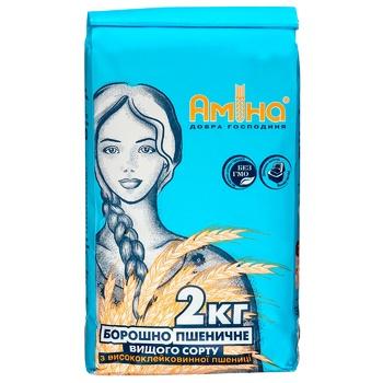 Amina wheat flour 2000g - buy, prices for Metro - photo 1