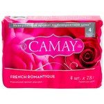 Camay Romantic Soap 4pcs * 75g - buy, prices for Furshet - image 1