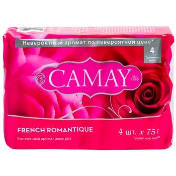 Мыло туалетное Camay Роминтик 4шт*75г - купить, цены на Фуршет - фото 1