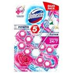 Domestos Power 5 Toilet Block Rose and Jasmine 2pcs*55g