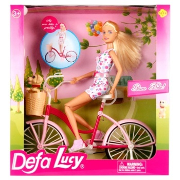Defa Lucy Doll by Bicycle