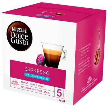 NESCAFÉ® DOLCE GUSTO® Espresso Decaffeinato coffee in capsules 16 pcs 96 g - buy, prices for MegaMarket - image 1