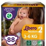 Libero Newborn 2 Diapers 3-6kg 88pcs