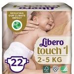 Підгузники Libero Touch 1 для дітей 2-5кг 22шт