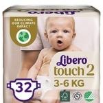 Подгузники Libero Touch 2 3-6кг 32шт