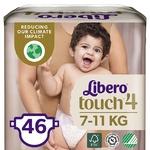 Подгузник  Libero Touch 4 для детей 7-11кг 46шт - купить, цены на СитиМаркет - фото 1