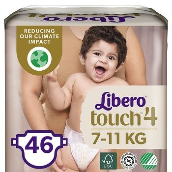 Libero Touch 4 diapers for children 7-11kg 46 pieces - buy, prices for MegaMarket - image 1