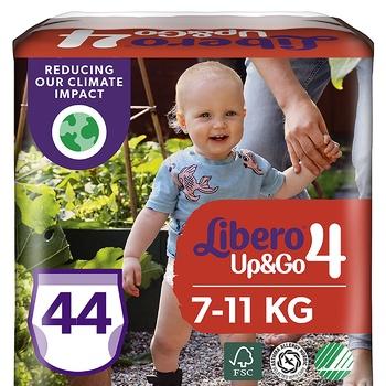 Подгузники-трусики Libero Up&Go 4 7-11кг 44шт - купить, цены на Ашан - фото 1