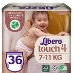 Подгузники-трусики  Libero Touch 4 для детей 7-11кг 36шт